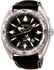 SEIKO SUN053P1 Prospex Kinetic GMT LAND Leather Strap 2 Year Guar RRP £299.00