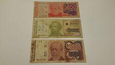 100 - 500 - 1000 australes- banconote Argentina