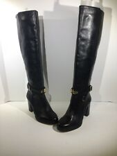 Michael Michael Kors Arley Riding Boot Womens Size 6 Tall Black Boots Z7-18