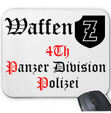 4TH PANZER DIVISION POLIZEI GERMANY WWII MOUSE MAT/PAD AMAZING DESIGN
