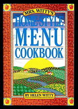 MRS WITTY'S HOME-STYLE MENU COOKBOOK-200 RECIPES BY HELEN WITTY (1990) 1ST ED