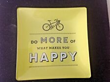 "Change Dish Inspirational ""Do More of What Makes You Happy"" Yellow Tray"