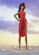 "12"" Fashion Royalty~Fame by Frame Imogen Coral Red Wrap Dress~Convention~Nu Face"