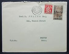 Belgium Antwerpen 1934 to Boston USA Frasers Esq. Bruxelles Brief (Lot-6882