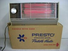 VINTAGE PRESTO PORTABLE HEATER FAN FORCED INSTANT RADIANT HEAT TEMP CONTROL