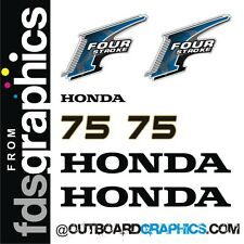 Honda 75hp 4 stroke outboard engine decals/sticker kit - other outputs available