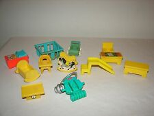 Fisher Price Little People Vintage Lot School & Hospital Furniture Accessories