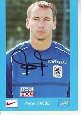 FOOTBALL carte joueur PETER CANULT équipe TSV MUNCHEN 1860 signée