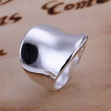 beautiful Fashion silver Plated MEN Women Thumb solid Ring jewelry hot sale new