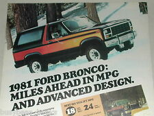 1981 Ford advertisement, Ford Bronco 4x4, with snowplow