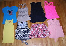 Lot of 8 Junior Clothes Tops-Dress-Skirt Sz M Deb, Juicy, Candie's, Forever 21