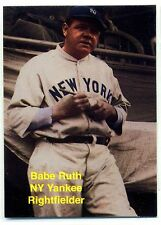 1992 Sports Weekly Magazine New York Yankees Babe Ruth Promo Card Number 5