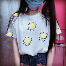 Egg Pattern White  Lolita T Shirts Tops Cute Short Sleeve (coming back soon)