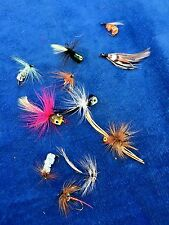 ANTIQUE FLY FISHING Lures Feather Heddon Bees Bugs Flies Water Bugs Lot of 11