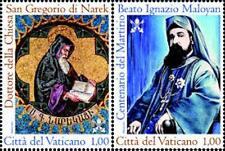 Francobolli Vaticano 2015 -IGNAZIO MALOYAN E I SAN GREGORIO DI NAREK