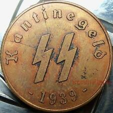 German SS Kantinegeld-1939-Xscarce copper-WW2 Nazi era Germany kantinengeld coin