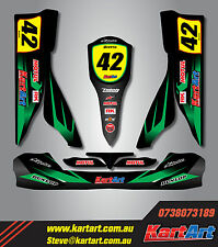 Tony Kart OTK M2  full custom KART ART sticker kit THUNDER STYLE / graphics