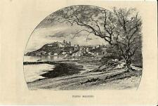 Stampa antica PORTO MAURIZIO panorama Imperia Liguria 1892 Old antique print