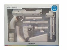 Brand New Polaroid Zapper 8-in-1 Gun Set (White) for Nintendo Wii Accessory Pack