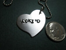 LOKI'D… necklace..hand stamped