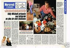 Coupure de presse Clipping 1987 (2 pages) Eddy Mitchell