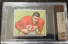 1950 Bowman Leo Nomellini 49ers Hall of Famer #107 BVG 8.5 Near Mint-MT +++