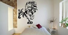Wall Room Decor Art Vinyl Sticker Mural Decal Tribal Animal Lion Leo King FI535