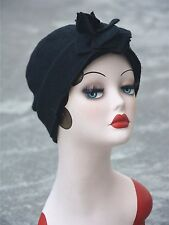 Turban Womens GATSBY 20s Winter Wool Beanie Cloche Crochet Bucket Cap Hat A388