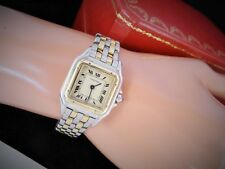 CARTIER PANTHERE WATCH  TWO Row 18K Yellow Stainless Steel cartier Watch