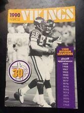 vintage Minnesota Vikings football 1990 Prospectus NFL sports book