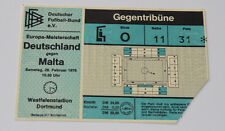 Ticket for collectors EURO q * West Germany BRD - Malta 1976 in Dortmund