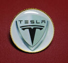 TESLA MOTORS QUALITY GOLD PLATED BADGES