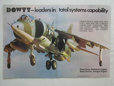 9/1976 PUB DOWTY CONTROL SYSTEMS HAWKER SIDDELEY AV-8A HARRIER ORIGINAL AD