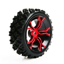 4Pcs Rubber Wheel Tyre &12mm Hex Rim For RC 1:10 Rally Racing Off Road Car