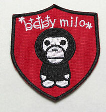 """MTM Baby Milo Ape Shield Embroidery Iron-on Badge, Patch Applique 72x68mm, 2.25"""""""