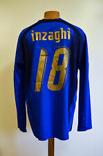 ITALY 2006/2007 MATCH WORN ISSUE HOME FOOTBALL SHIRT JERSEY PUMA INZAGHI #18