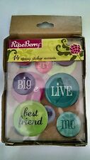 Colorbok Ripe Berry 2 Sweet 4 Words Epoxy Sticker Accents 14pc