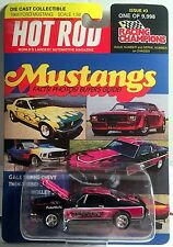 1968 FORD MUSTANG Racing Champions HOT ROD Mag Issue #3 1:58 Die-cast MIP! LE