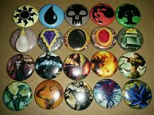 "MTG LOT 20 1"" Pinback Button Badge Pins MAGIC THE GATHERING MANA PLANESWAKER MOX"