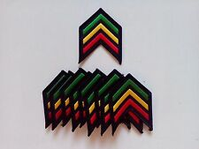 "10 RASTA Shoulder (RYG) Embroidered Patches 3"" x 2.5"""