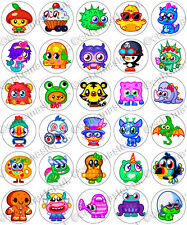 30 x Moshi Monsters Moshlings Party Edible Rice Wafer Paper Cupcake Toppers