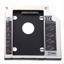 Sata 2nd Hdd Ssd Caddy Adaptador Para Laptops 9.5 mm óptico Disco Duro Bay New