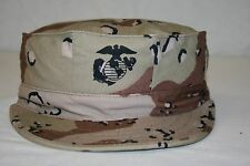 USMC MARINE STYLE 6-COLOR DESERT CAMO UTILITY HEX COVER SIZE XL 7 3/4 U.S. MADE