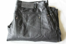 Mens J.F.GEE Black Real Genuine Leather Trousers sz 054 W36 L33