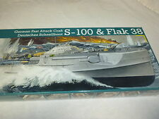1/72 S-100  FLAK38 GERMAN FAST ATTACK CRAFT  SHIP MODEL KIT