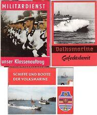 DDR NVA Werbemappe 2 Hefte Volksmarine Gefechtsbereit und Boote + Schiffe der VM