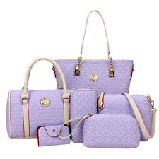 6Pcs Set Fashion Women Shoulder Bag PU Leather Purse Tote Handbag Crossbody Bag