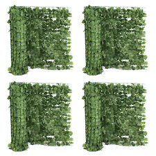 "39""H Artificial Faux Ivy Leaf Privacy Fence Screen Décor Panels Outdoor Hedge X4"