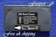 VHS VIDEO RECORDER WET & DRY HEAD CLEANER/ CLEANING TAPE/ CASSETTE - WITH FLUID