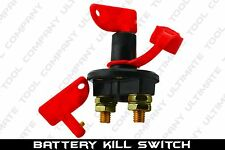 Battery Kill Switch Master Key Terminal 12V Motorcycle Boat ATV 2 Removable Keys